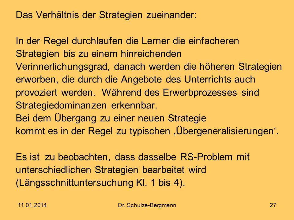 Das Verhältnis der Strategien zueinander: