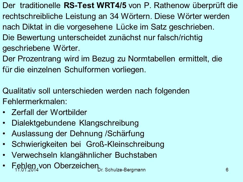 Der traditionelle RS-Test WRT4/5 von P. Rathenow überprüft die