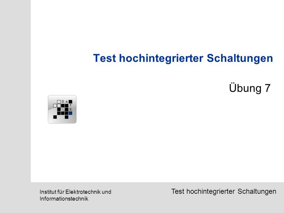 Test hochintegrierter Schaltungen