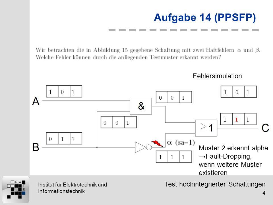 Aufgabe 14 (PPSFP) Fehlersimulation