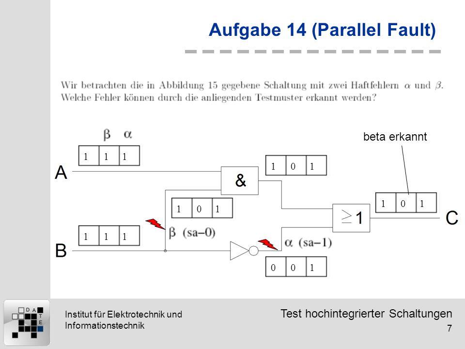 Aufgabe 14 (Parallel Fault)