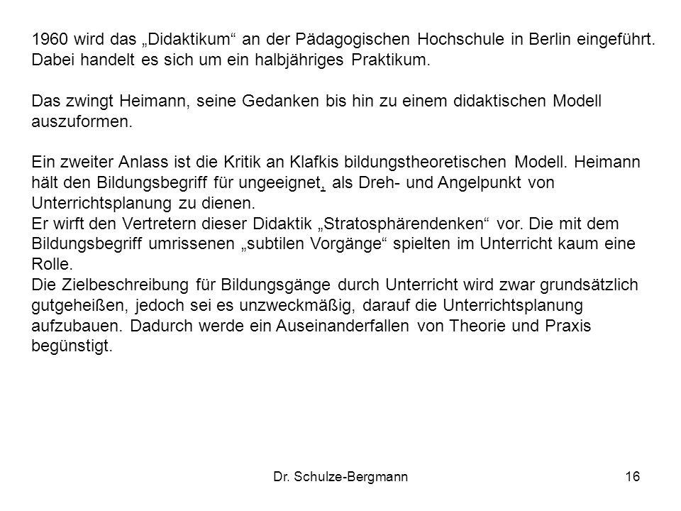 """1960 wird das """"Didaktikum an der Pädagogischen Hochschule in Berlin eingeführt. Dabei handelt es sich um ein halbjähriges Praktikum."""