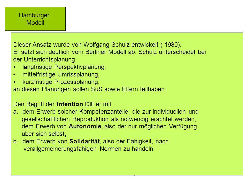 Dieser Ansatz wurde von Wolfgang Schulz entwickelt ( 1980).