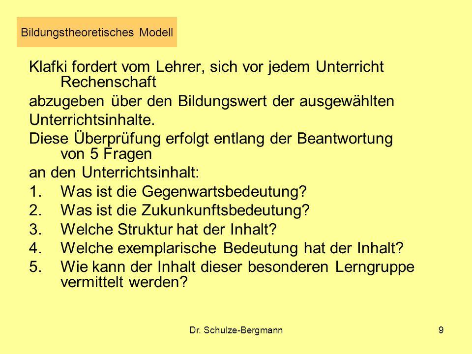 Bildungstheoretisches Modell