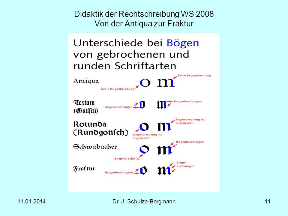 Didaktik der Rechtschreibung WS 2008 Von der Antiqua zur Fraktur