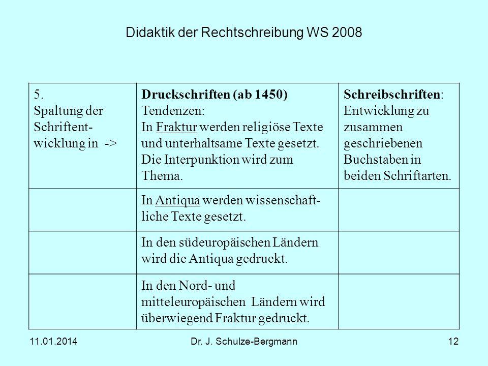 Didaktik der Rechtschreibung WS 2008
