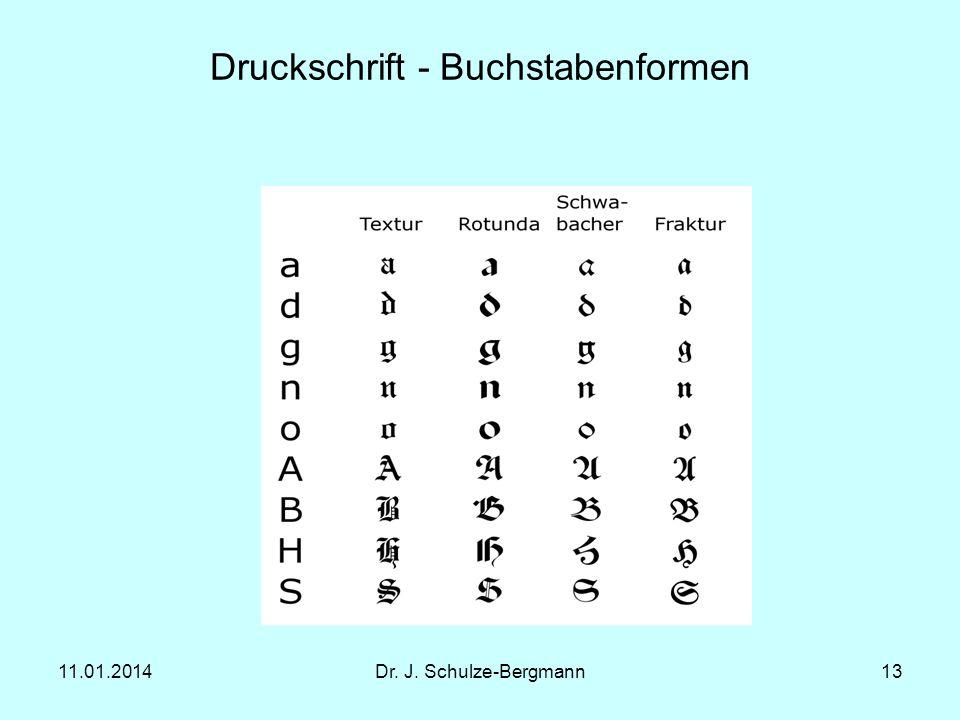 Druckschrift - Buchstabenformen