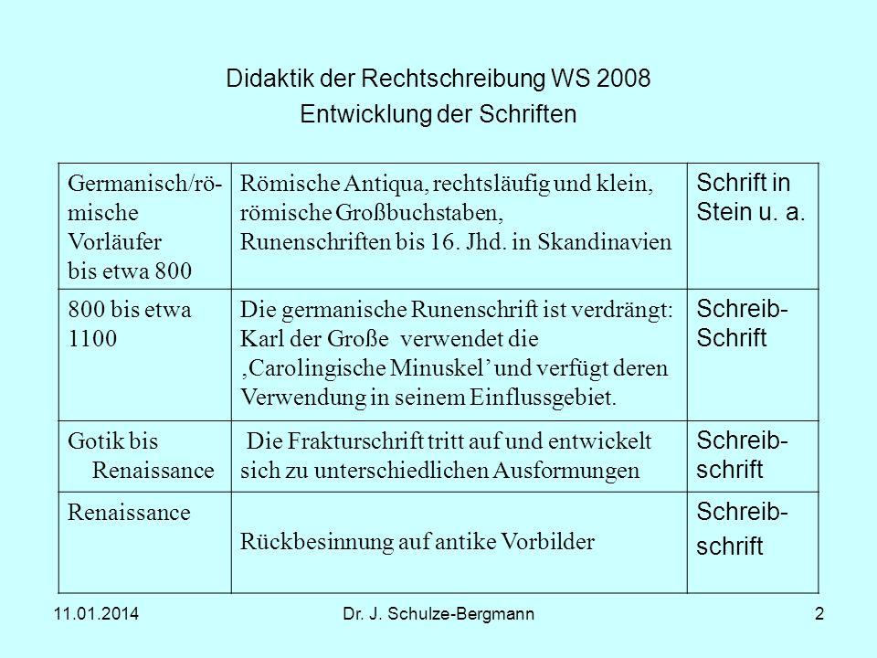 Didaktik der Rechtschreibung WS 2008 Entwicklung der Schriften