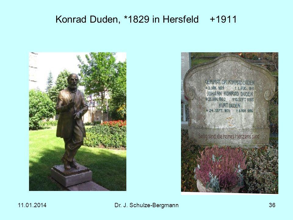 Konrad Duden, *1829 in Hersfeld +1911
