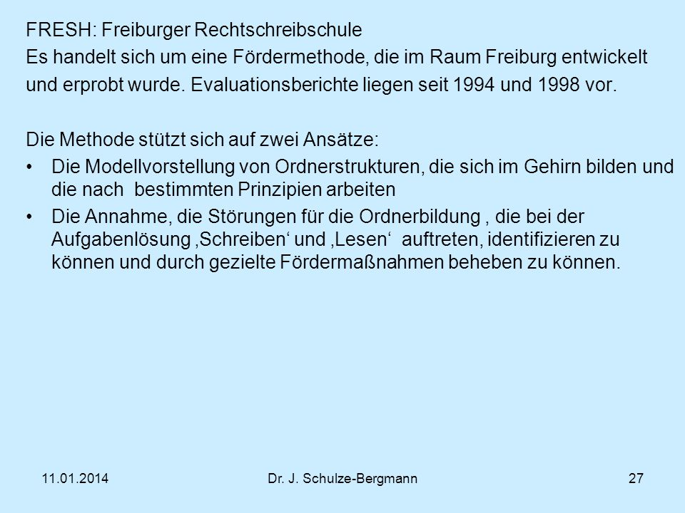 FRESH: Freiburger Rechtschreibschule