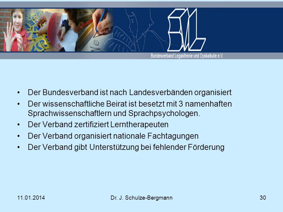 Der Bundesverband ist nach Landesverbänden organisiert