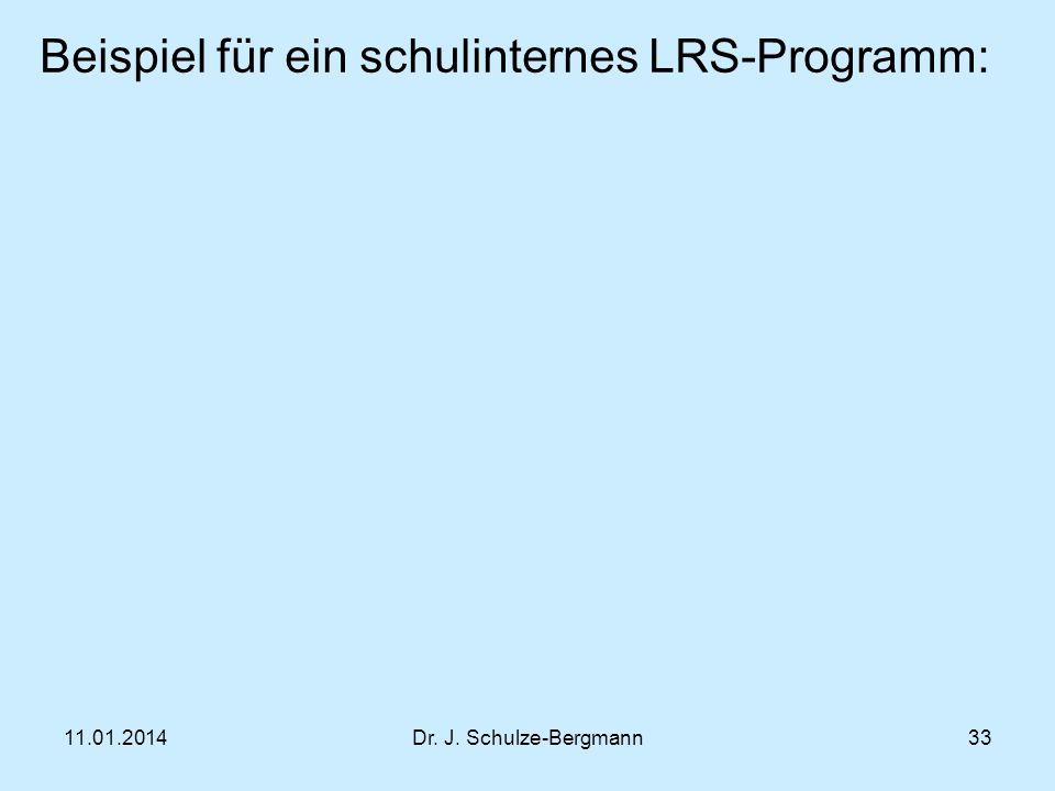 Beispiel für ein schulinternes LRS-Programm: