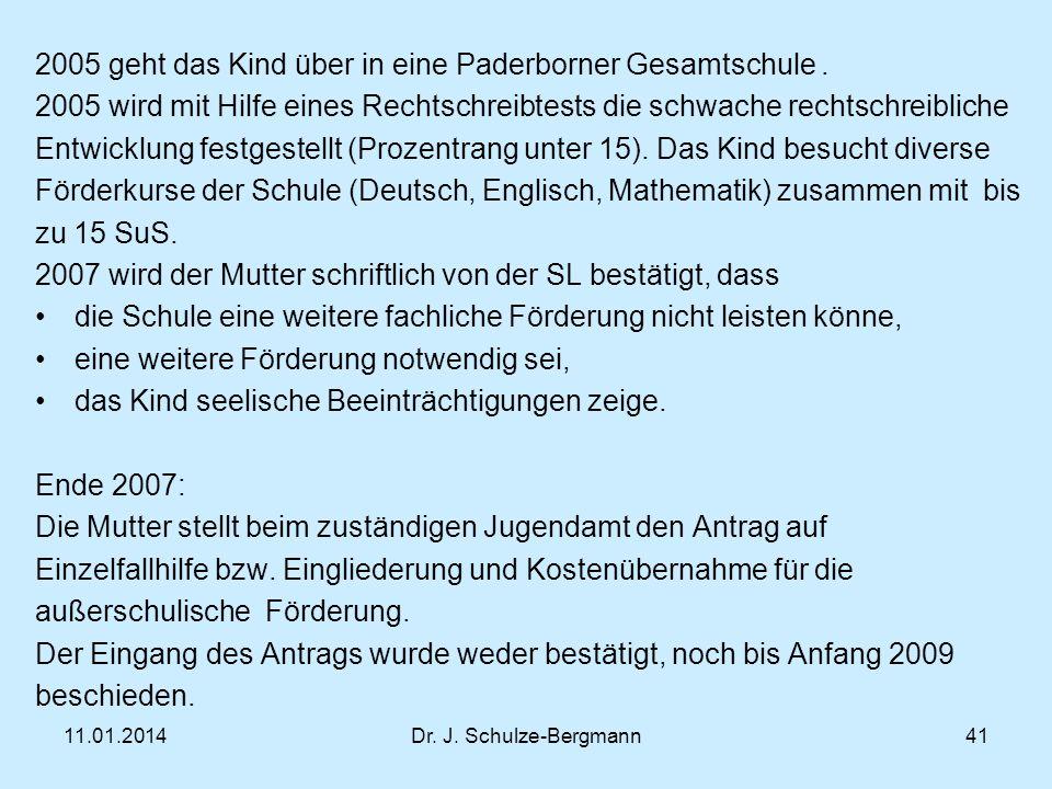 2005 geht das Kind über in eine Paderborner Gesamtschule .
