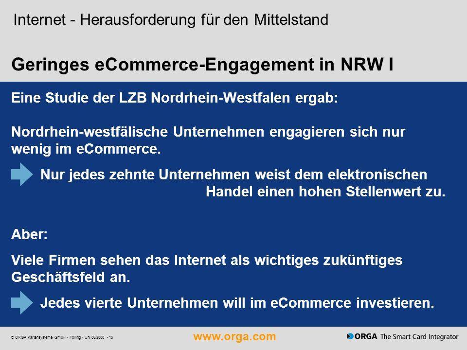 Geringes eCommerce-Engagement in NRW I