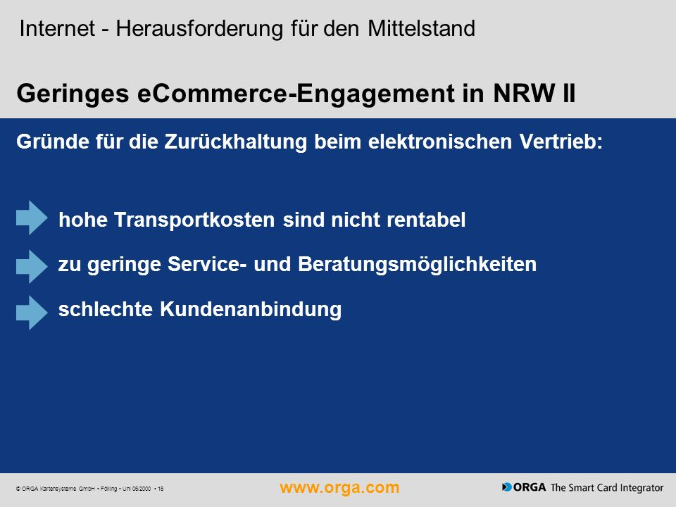 Geringes eCommerce-Engagement in NRW II