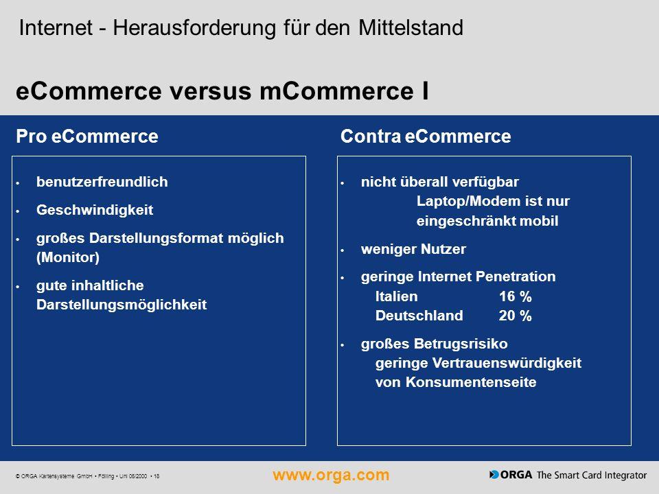 eCommerce versus mCommerce I