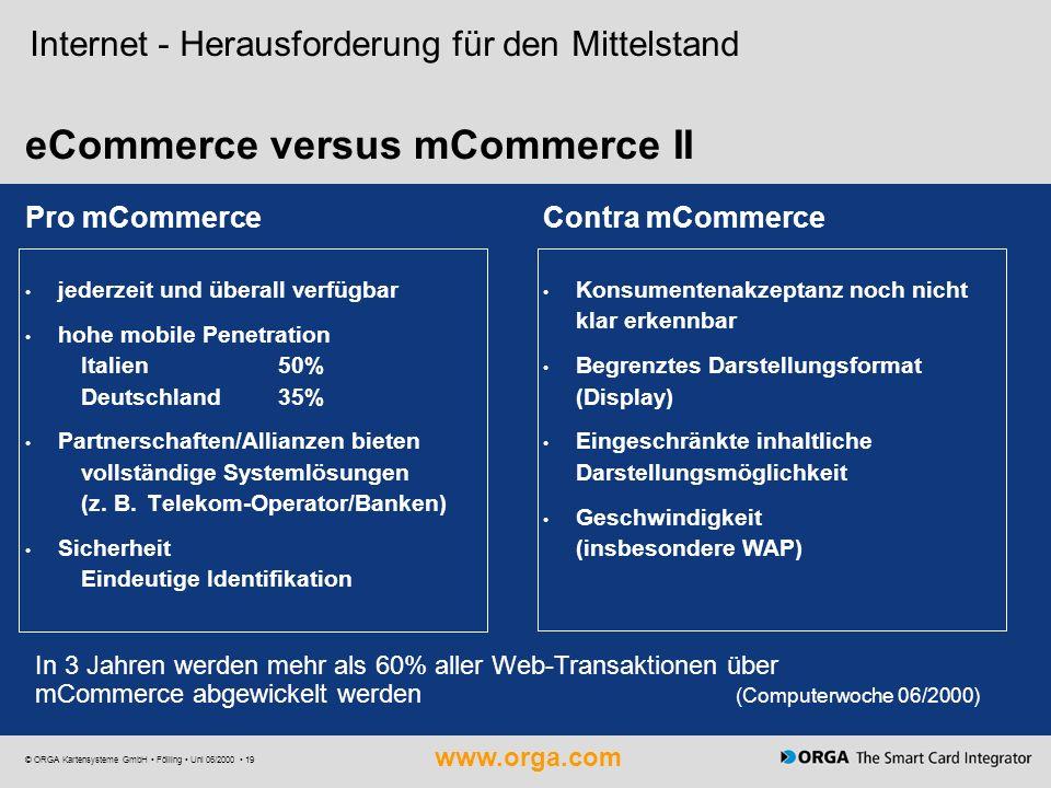 eCommerce versus mCommerce II