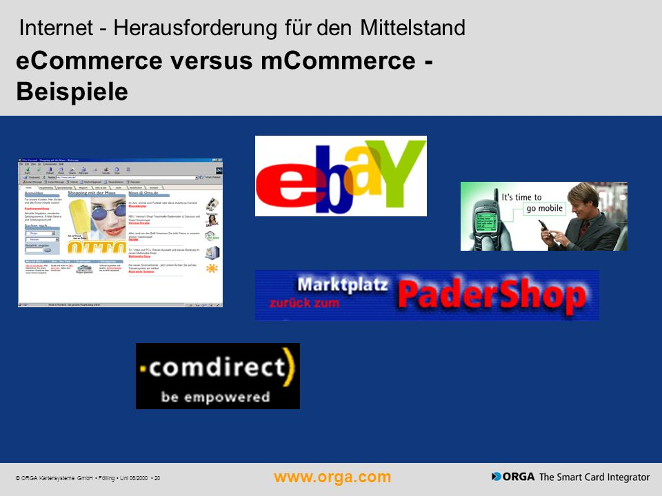 eCommerce versus mCommerce - Beispiele