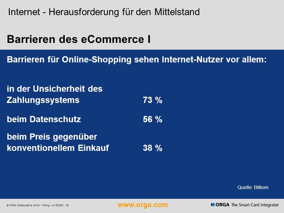 Barrieren des eCommerce I