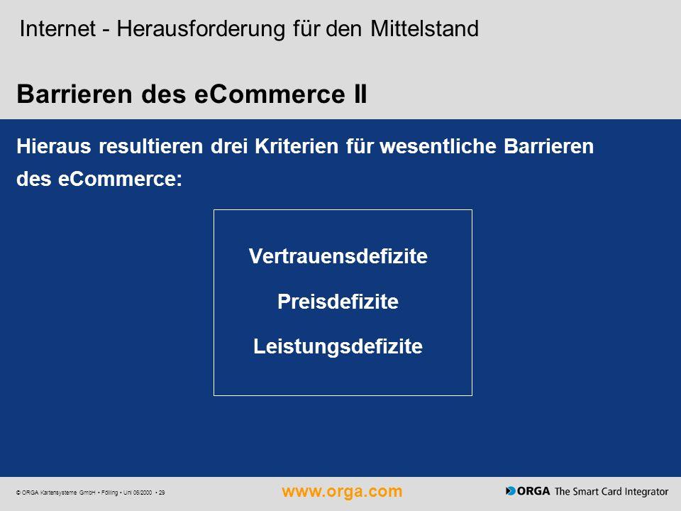 Barrieren des eCommerce II