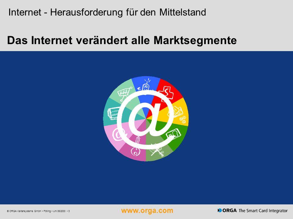 Das Internet verändert alle Marktsegmente