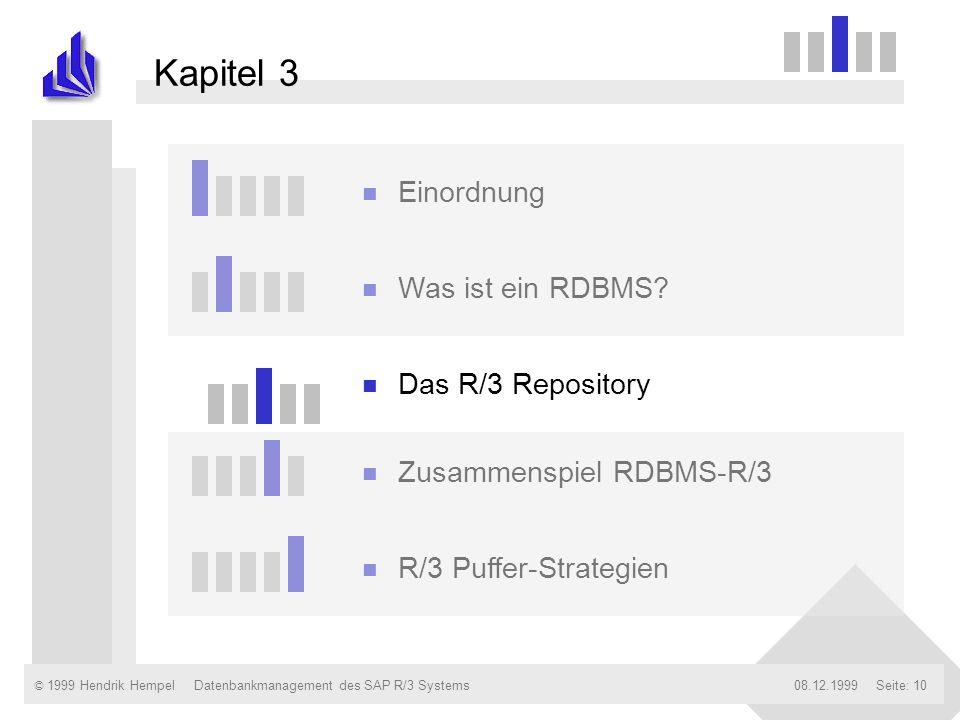 Kapitel 3 Einordnung Was ist ein RDBMS Das R/3 Repository
