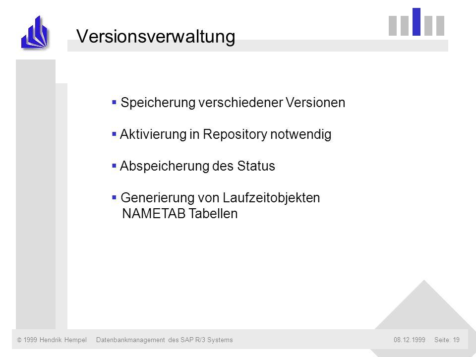 Versionsverwaltung Speicherung verschiedener Versionen