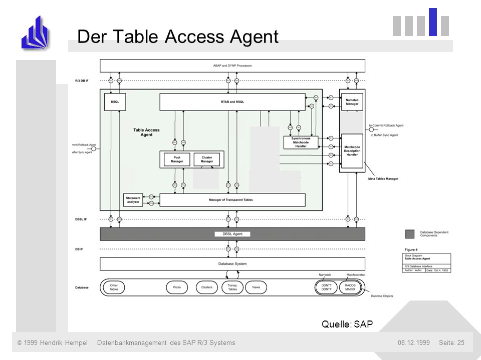 Der Table Access Agent Quelle: SAP