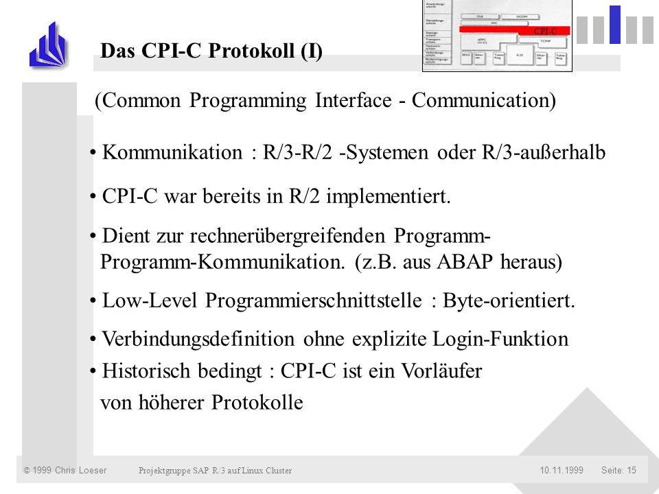 Das CPI-C Protokoll (I)