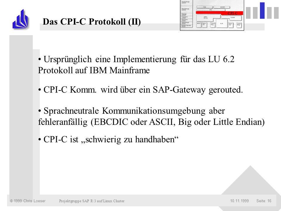 Das CPI-C Protokoll (II)