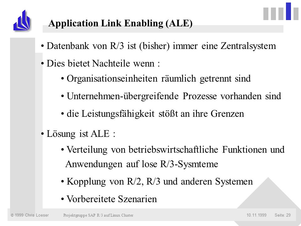 Application Link Enabling (ALE)