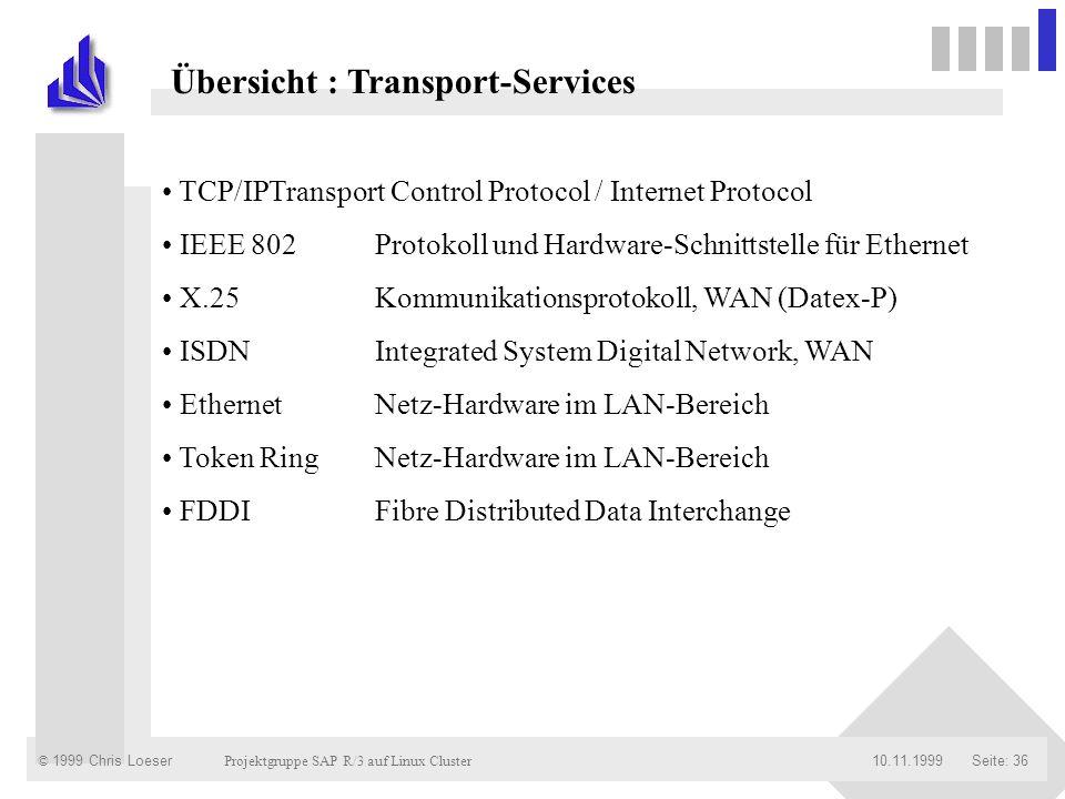 Übersicht : Transport-Services