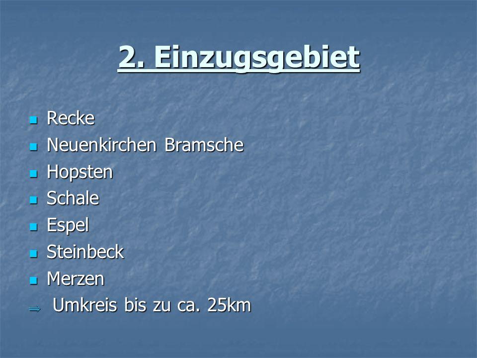 2. Einzugsgebiet Recke Neuenkirchen Bramsche Hopsten Schale Espel