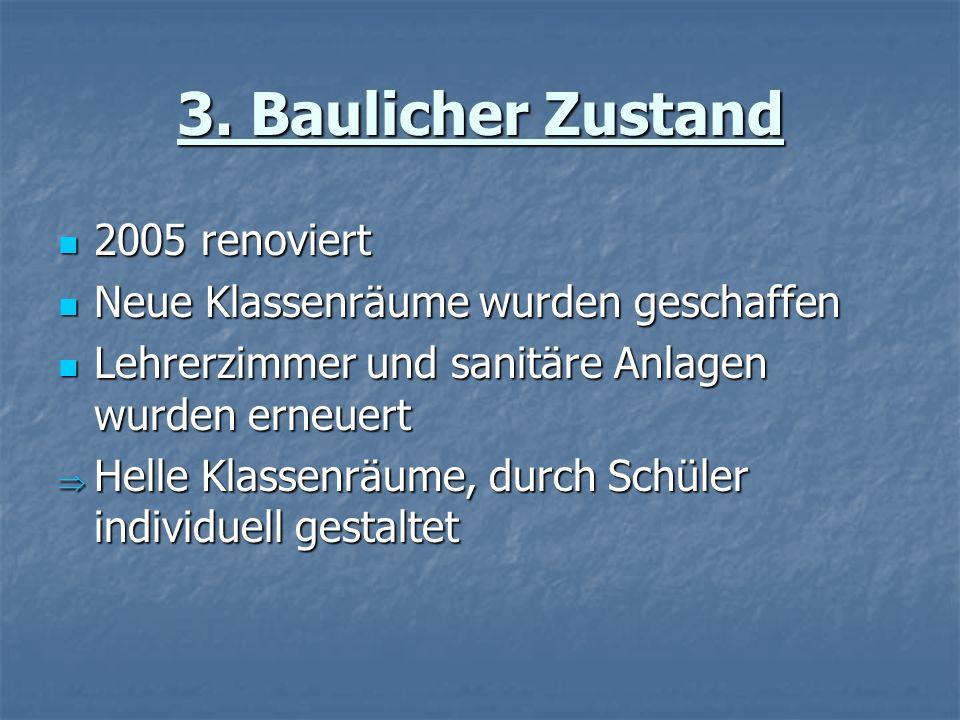 3. Baulicher Zustand 2005 renoviert