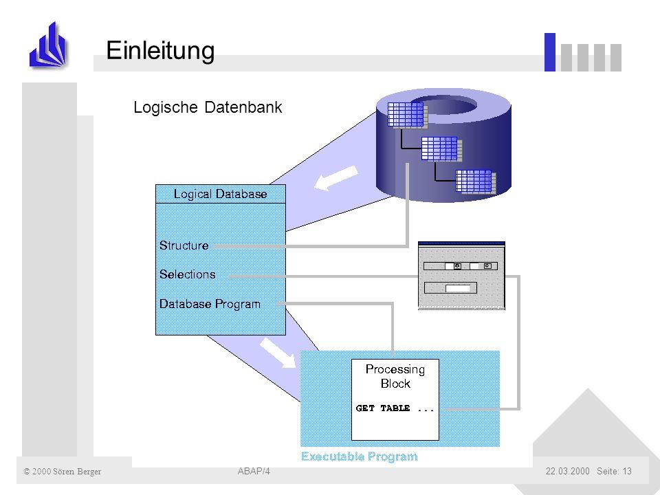 Einleitung Logische Datenbank ABAP/4