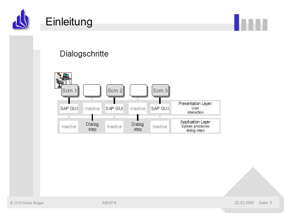 Einleitung Dialogschritte ABAP/4