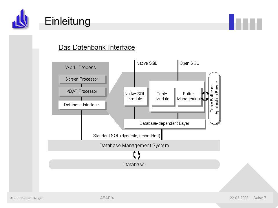 Einleitung Das Datenbank-Interface ABAP/4
