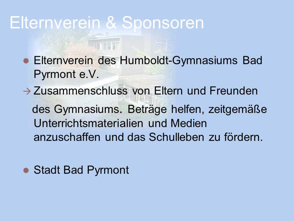 Elternverein & Sponsoren