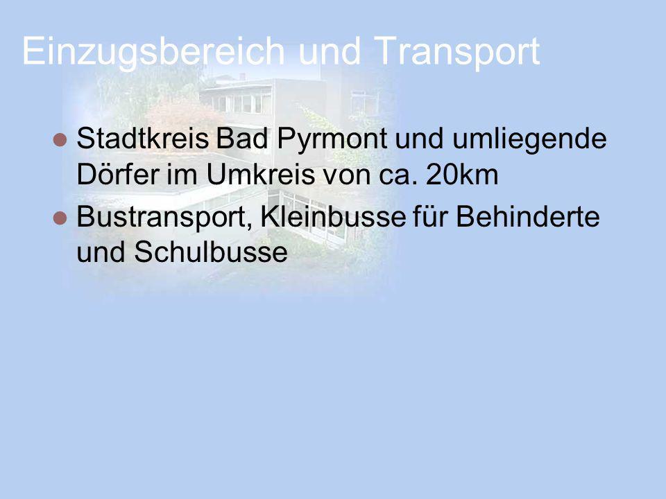 Einzugsbereich und Transport