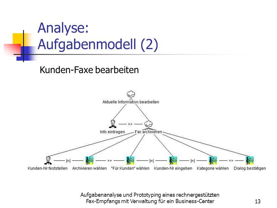 Analyse: Aufgabenmodell (2)