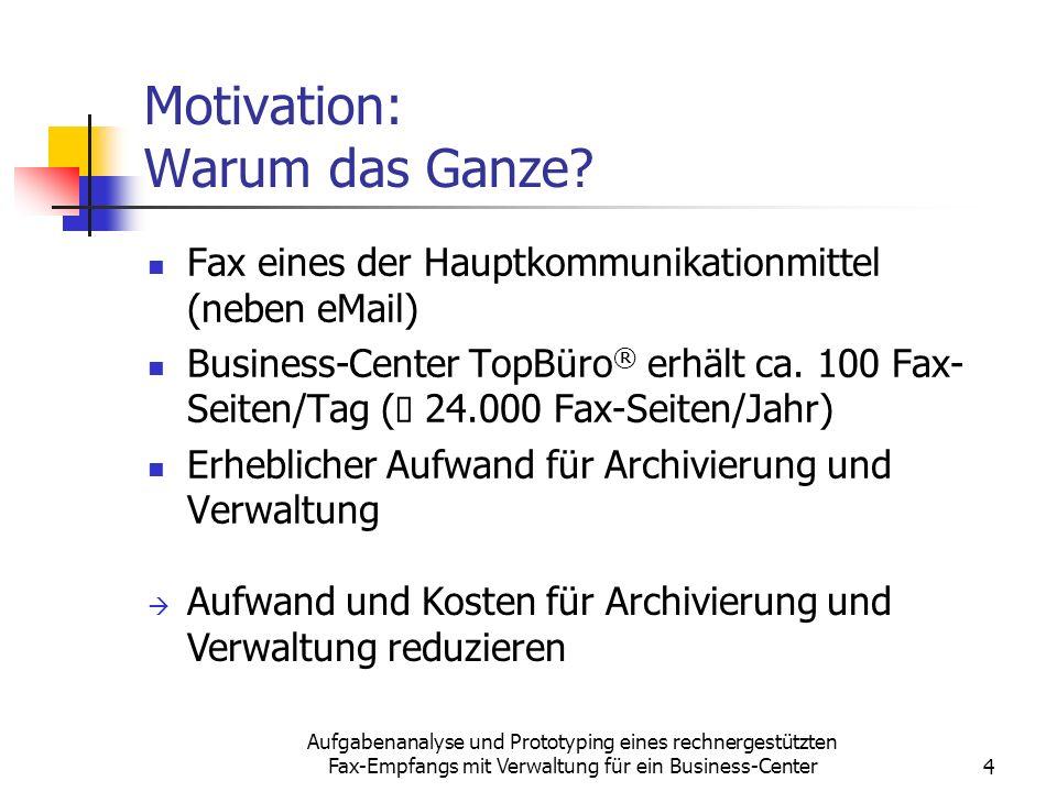 Motivation: Warum das Ganze