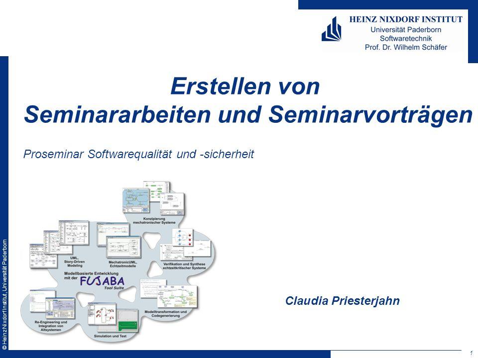 Erstellen von Seminararbeiten und Seminarvorträgen