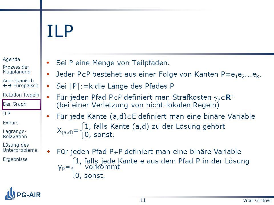 ILP Sei P eine Menge von Teilpfaden.