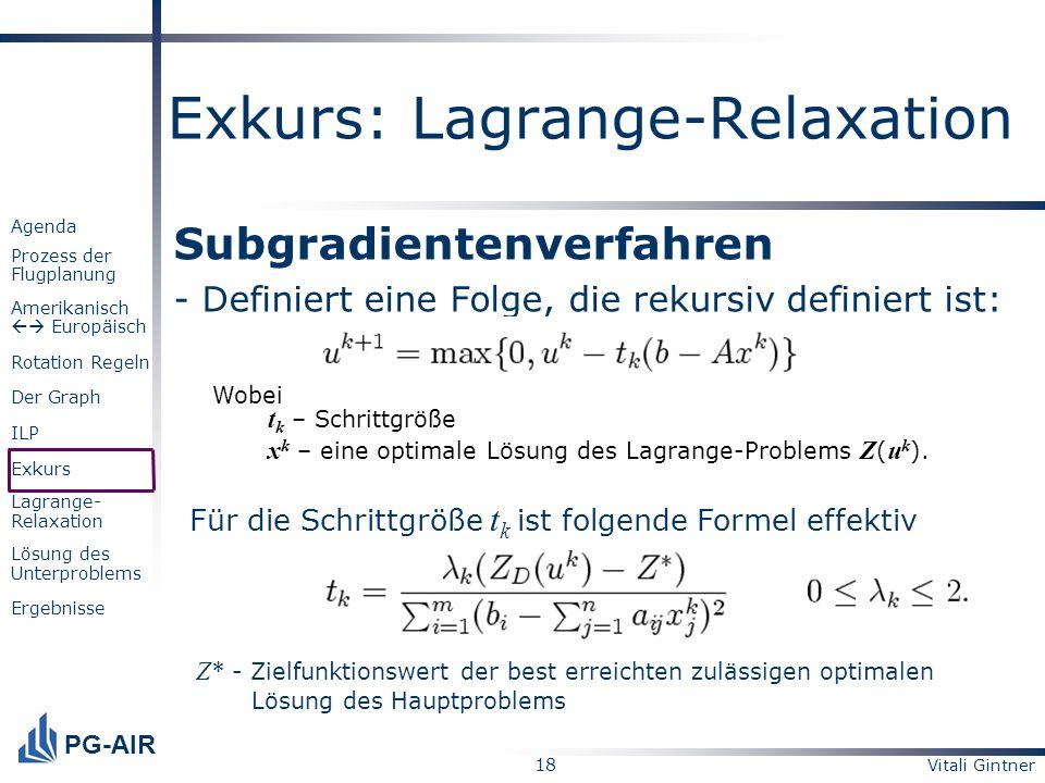 Exkurs: Lagrange-Relaxation