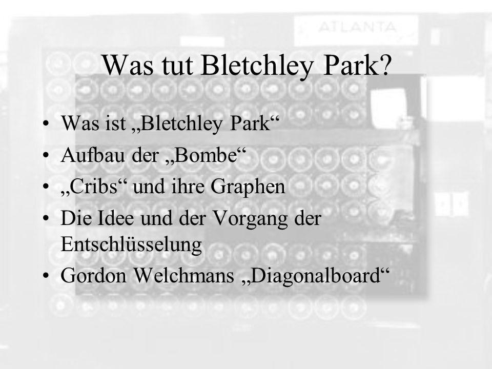 "Was tut Bletchley Park Was ist ""Bletchley Park Aufbau der ""Bombe"