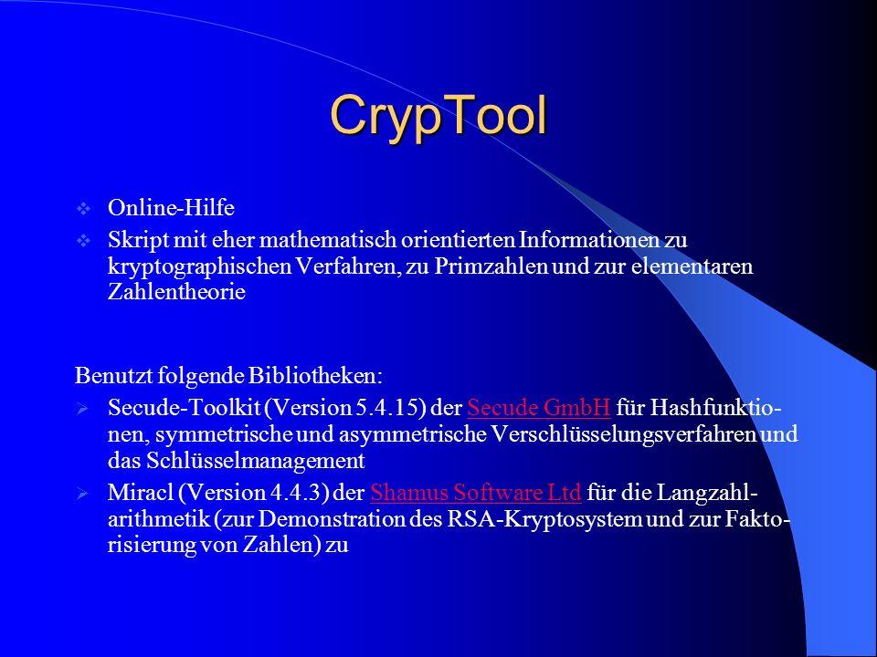 CrypTool Online-Hilfe