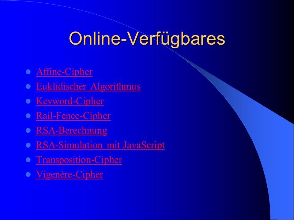 Online-Verfügbares Affine-Cipher Euklidischer Algorithmus