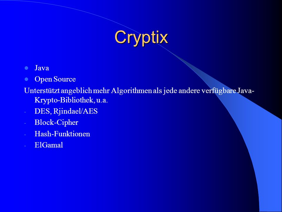 Cryptix Java Open Source