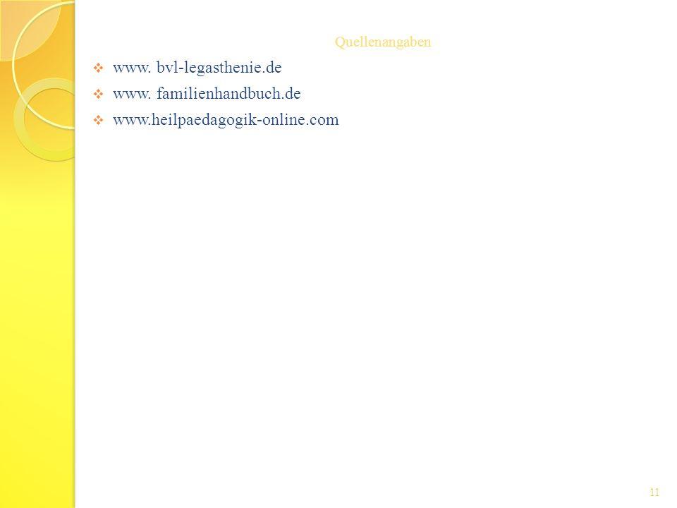 www. bvl-legasthenie.de www. familienhandbuch.de