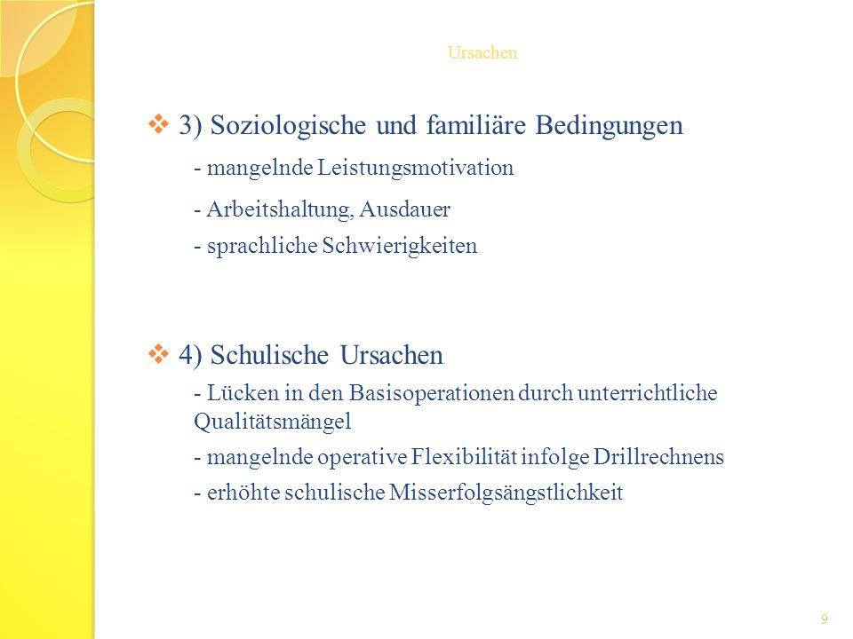 3) Soziologische und familiäre Bedingungen
